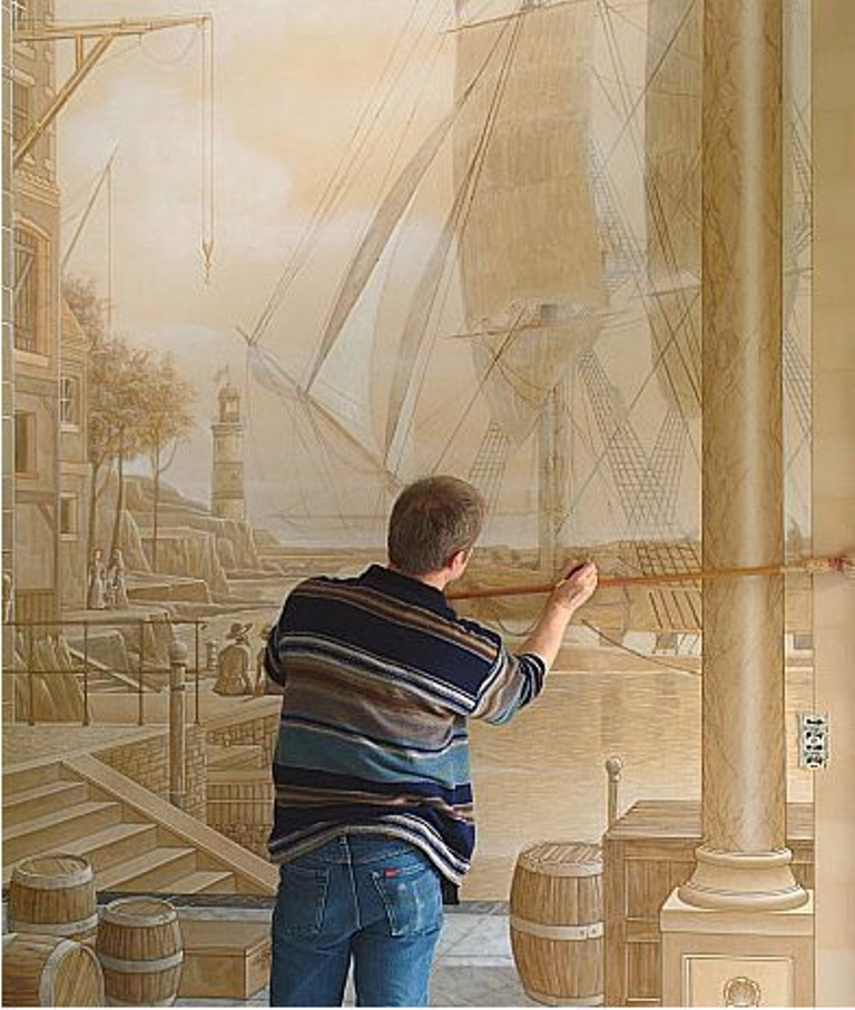 Amazing-New-Take-on-House-Decoration-3D-Wall-Paintings 45 Stunning 3D Paintings for Decoration