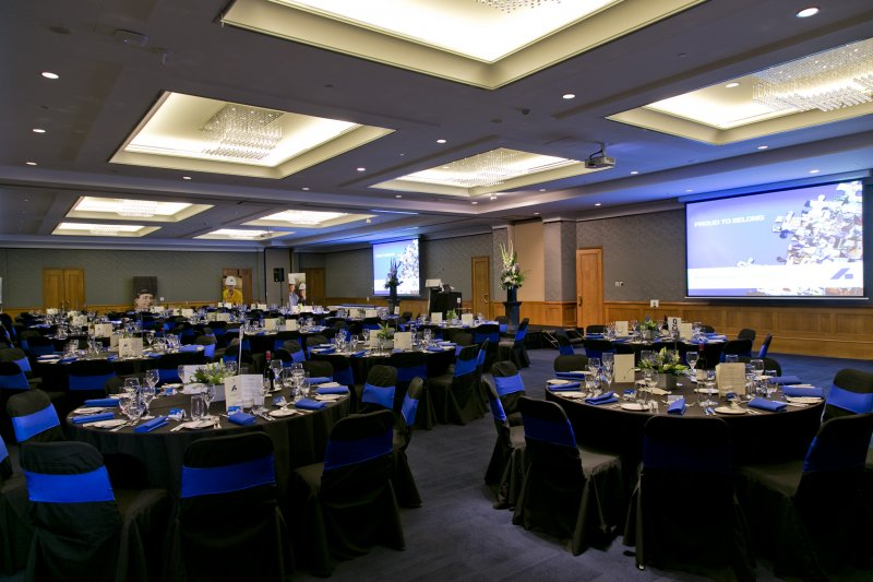 Ballroom-Corporate-Dinner Enjoy A Luxurious Life in Duxton Hotel Perth