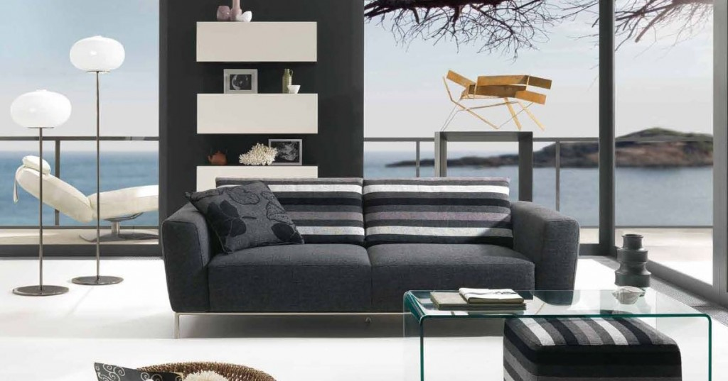 Black-Modern-Living-Room 15+ Helpful Ideas for Designing Your Living Room [Photos]