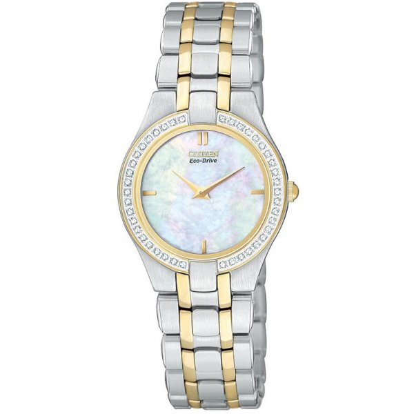 Citizen-Womens-Stiletto-Diamond-Two-Tone-Steel-Bracelet-Watch The World's 15 Thinnest Watches