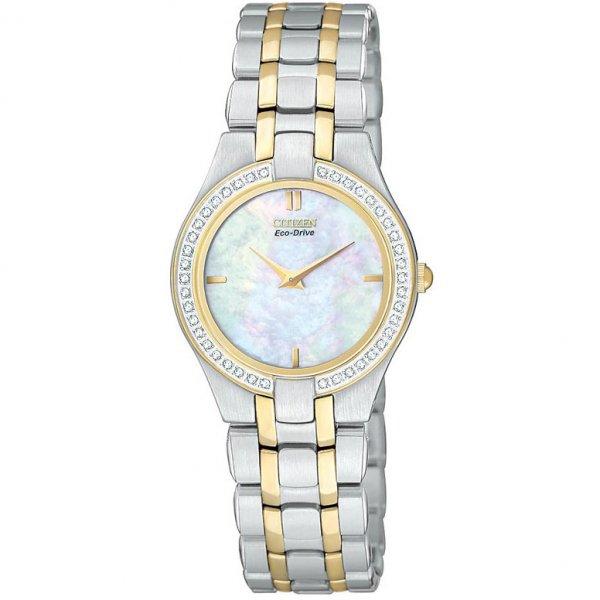 Citizen-Womens-Stiletto-Diamond-Two-Tone-Steel-Bracelet-Watch The World's 15 Thinnest Watches