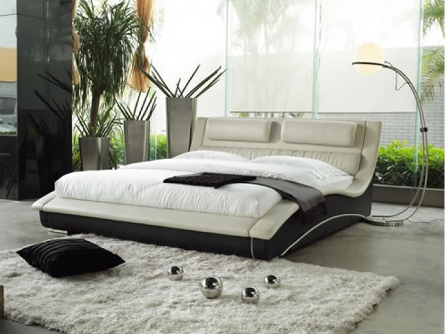Contemporary-Bed-Design-for-Bedroom-Furniture-Napoli-Cream-and-Black How to Choose Contemporary Bedroom Furniture