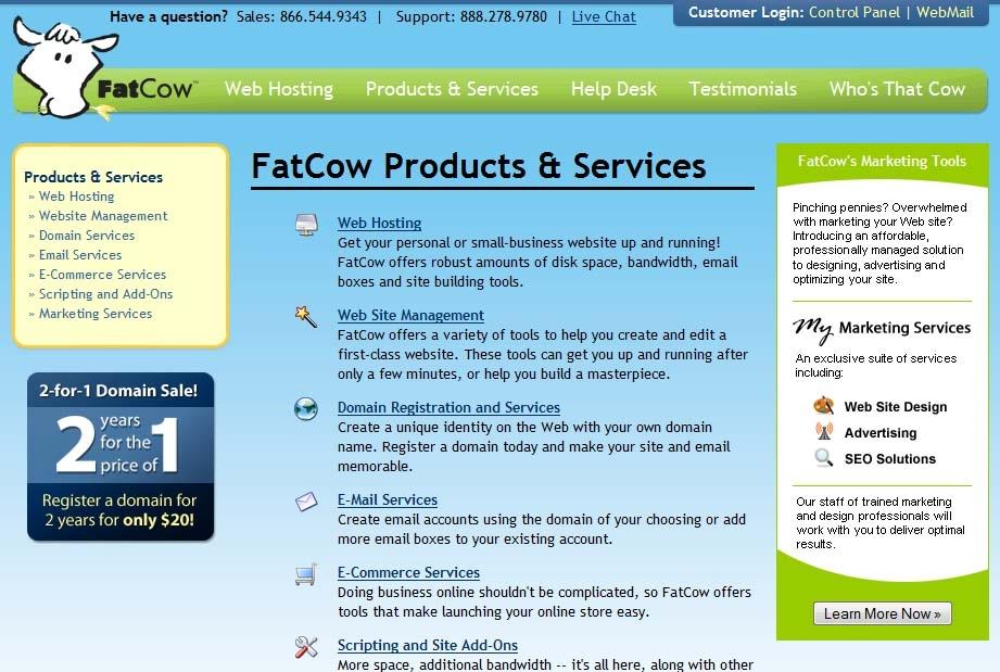FatCow Top 5 Web Hosting Companies