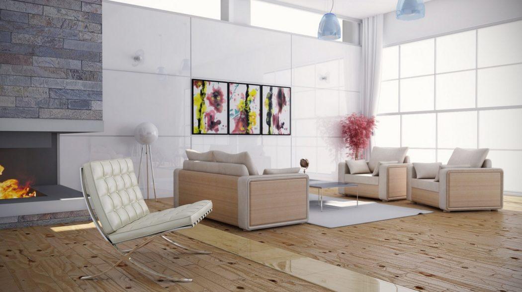 Женственный дизайн гостиной