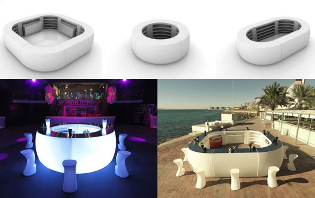 Fiesta-Lighted-Bar 45 Marvelous Images for Futuristic Furniture