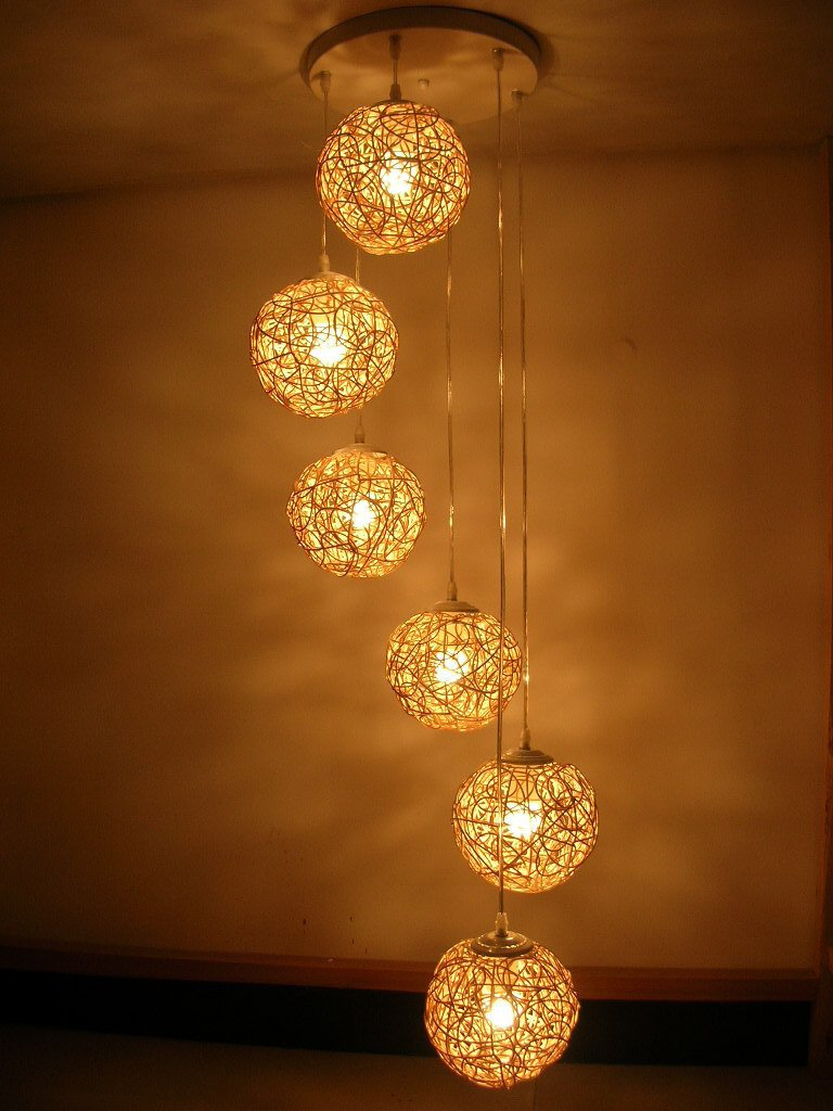 Light Decorations For Living Room: Do You Like To Have A Handmade Wooden Lamp?