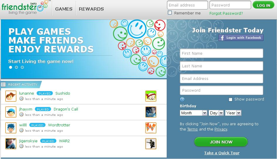 Friendster-the-new-social-games-site The Most Popular 15 Social Websites in The World