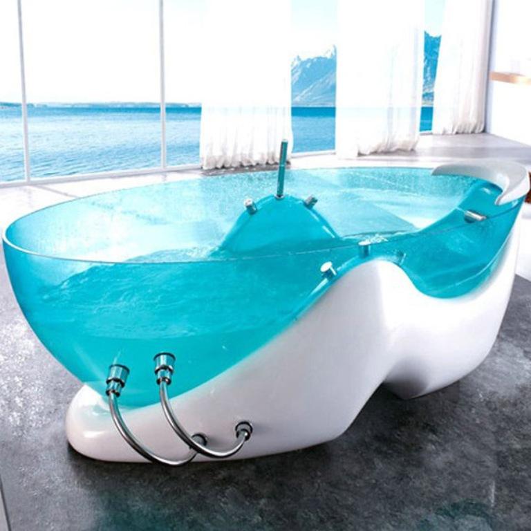 Futuristic-Bathtub-Transparent-Tubs-Futuristic-Bathtub 45 Marvelous Images for Futuristic Furniture