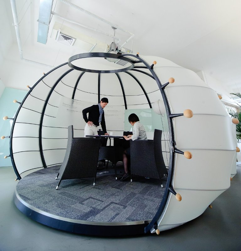 Futuristic-Pumpkin-Room-Design-by-edg-Creatives 45 Marvelous Images for Futuristic Furniture