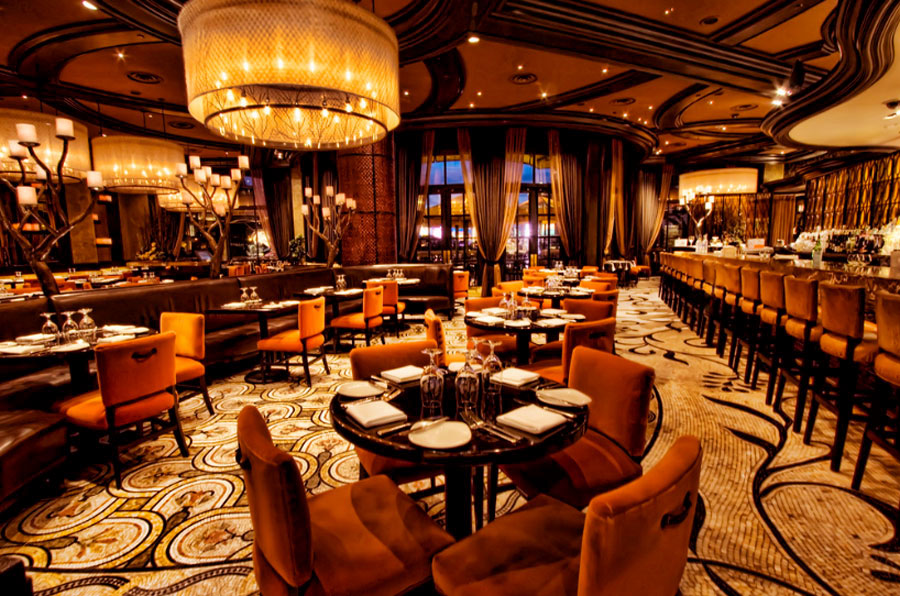 Hospitality-Mediterranean-Style-Restaurant-Interior-Design-of-Todd-Englishs-Olives-Las-Vegas-Ornaments Top 10 Most Inspiring Restaurant Interior Designs in The World