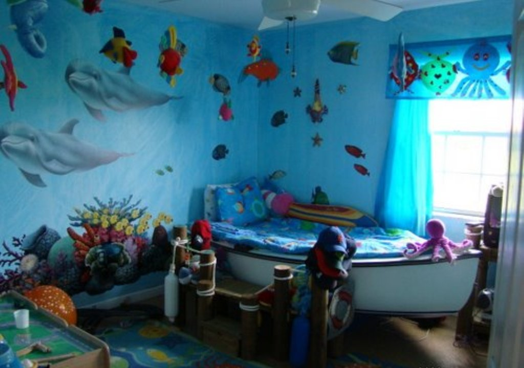 Ideas-Decorating-Boys-Rooms-Colors-To-Paint-A-Room-Bedroom-Themes 45 Stunning 3D Paintings for Decoration