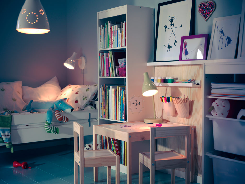 Ikea-child-room-lighting-and-furniture Love Your Work with IKEA Desks