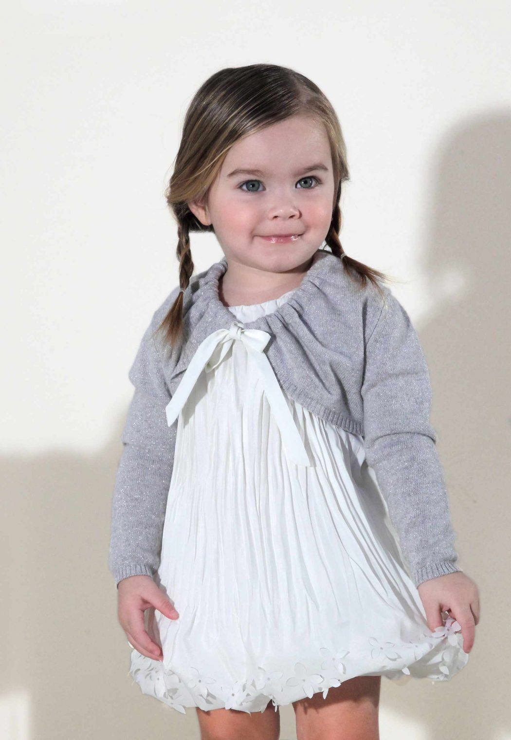 Il-Gufo-winter-2012-Baby-gets-a-crinkle-pleat-dress-too Stylish Collection Of Winter Dresses For Baby Girls
