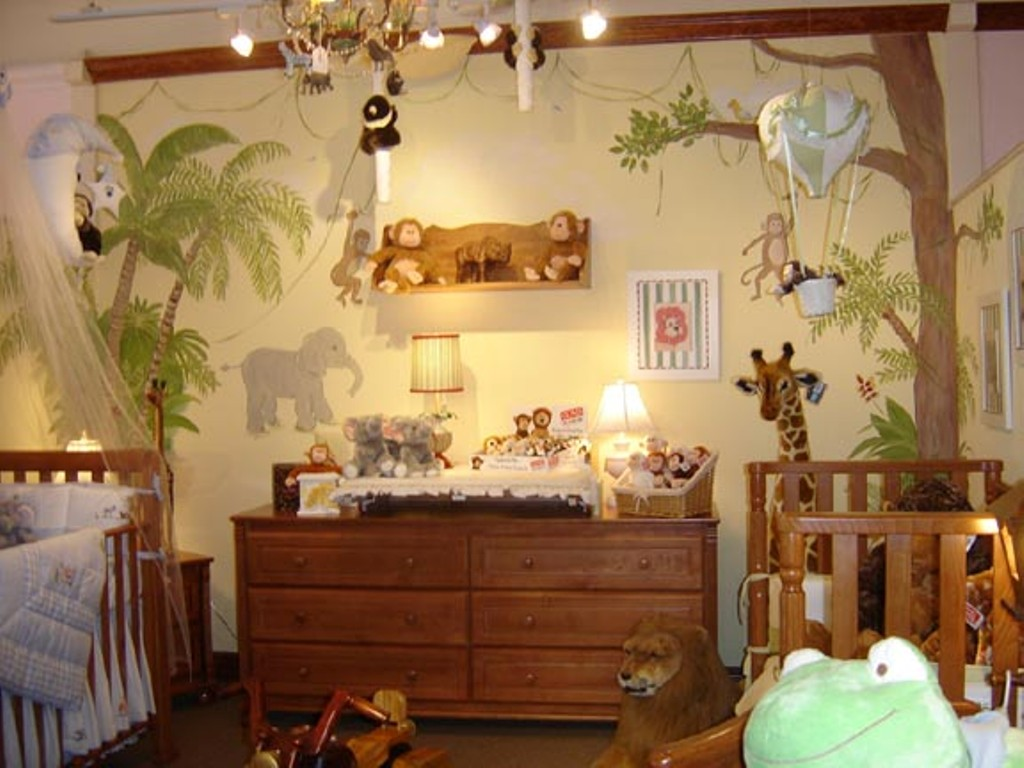 Jungle-Themed-Babys-Room 45 Stunning 3D Paintings for Decoration