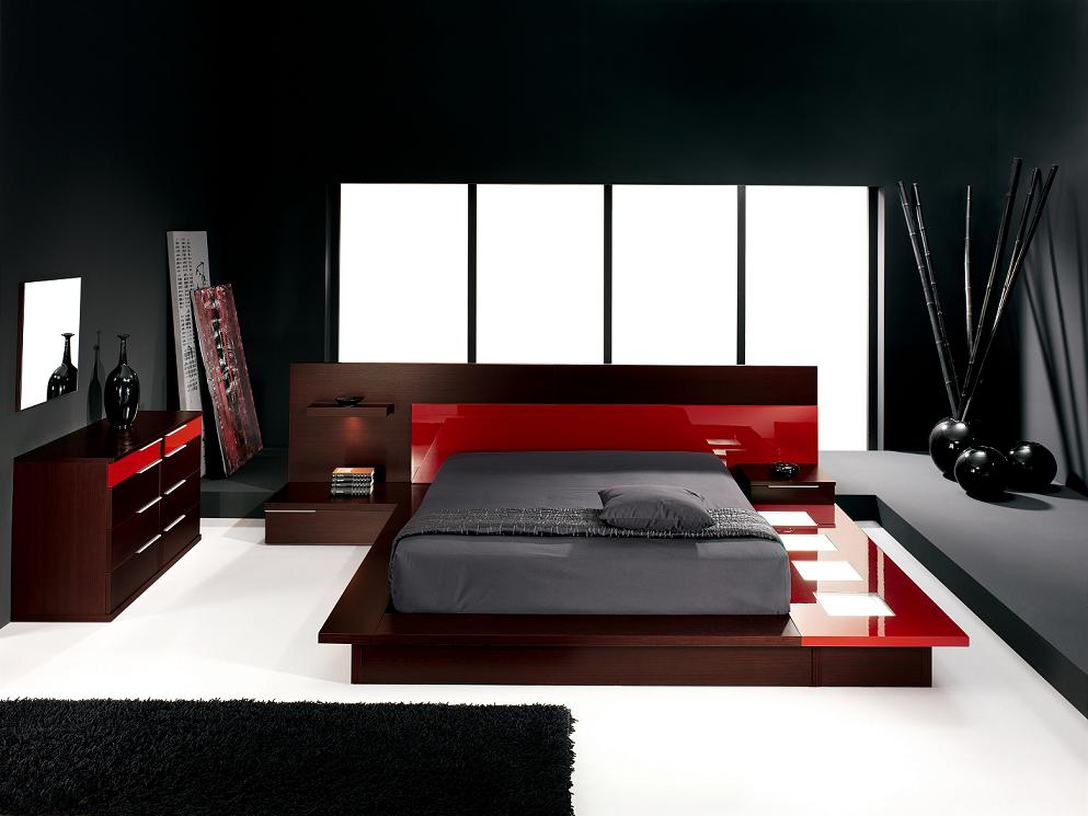 Modern-bedroom-designs-with-luxury-red-platform-bed-2 How to Choose Contemporary Bedroom Furniture
