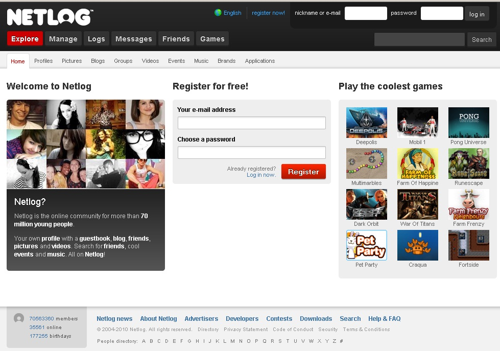 Netlog The Most Popular 15 Social Websites in The World