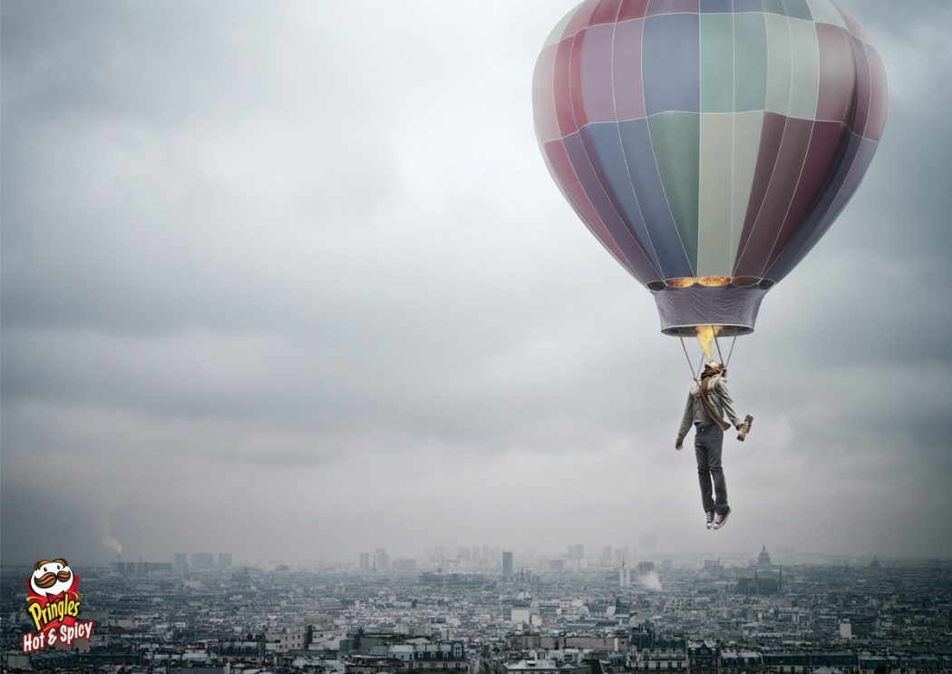 Pringles-Hot-amp-Spicy-Hot-air-balloon 23 Funniest Print Ads