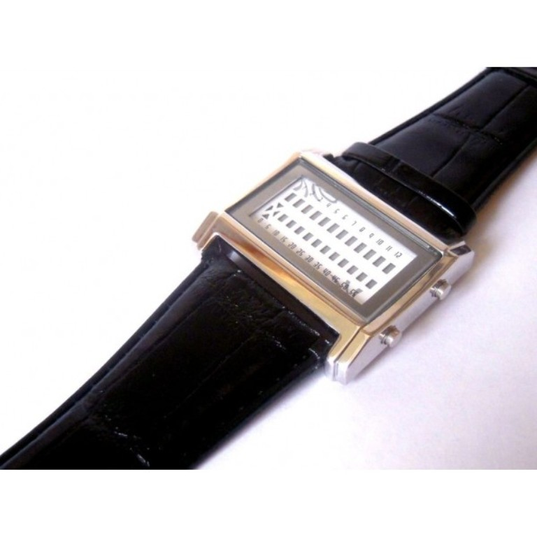 Quanternary-Barcode-LED-Watch. How Will You Read These Encoded Watches?