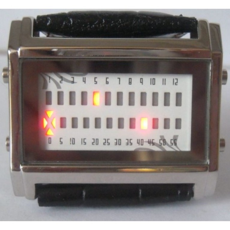 Quanternary-Barcode-LED-Watch How Will You Read These Encoded Watches?