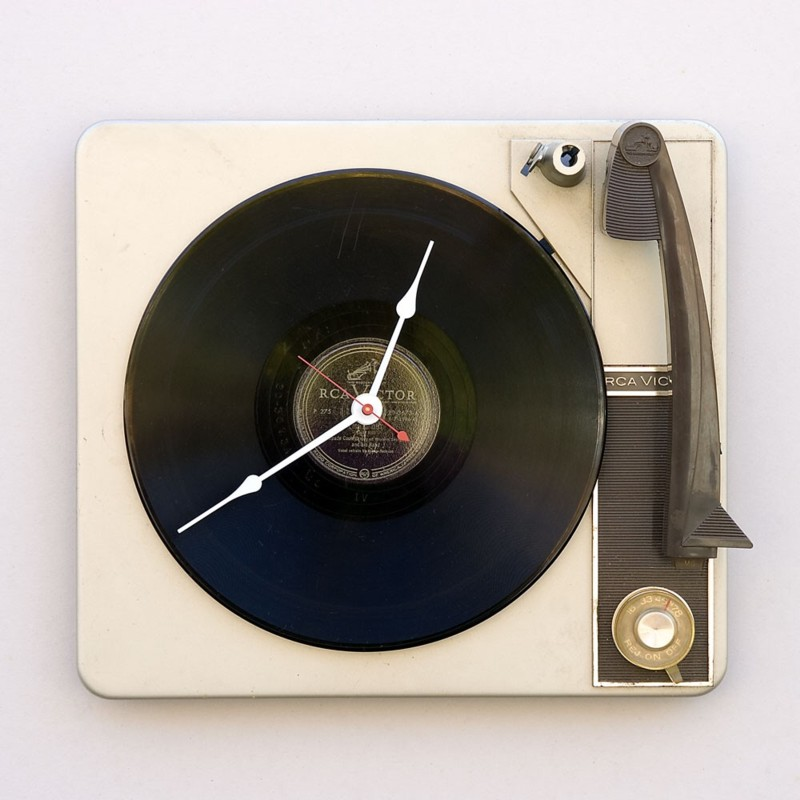 RCA-Victor-Record-Player-Clock Best 25 Creative Clock Ideas