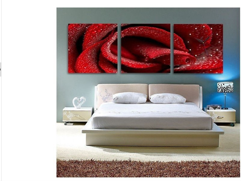 Red-Rose-100-Handmade-Modern-Oil-Painting-On-Canvas-font-b-Wall 45 Stunning 3D Paintings for Decoration