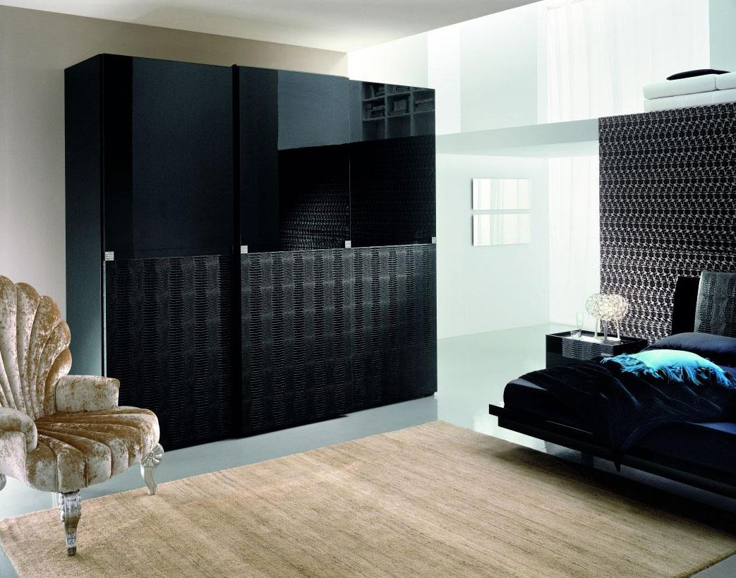 Rossetto-Diamond-Black-3-Door-Wardrobe-1 10 Best Diamond Furniture Designs You'll See