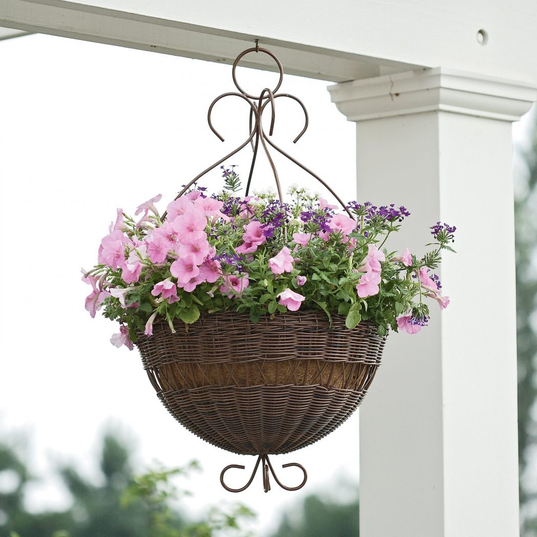 Round-Resin-Wicker-Hanging-Basket-with-Metal-Hanger How To Make Plants A Part Of Your Home Decoration?