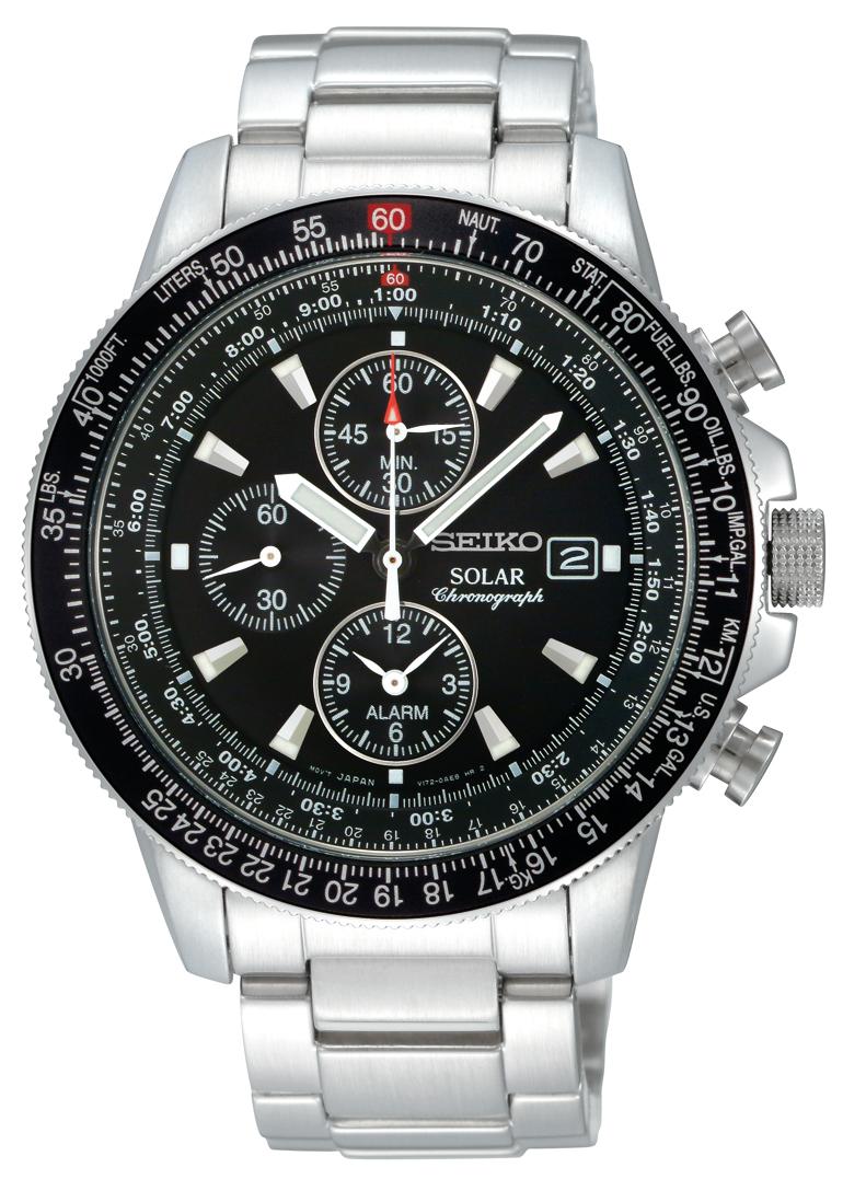 Seiko+Solar+Mens+Alarm+Chronograph+SSC009P1 Most 35 Stylish Solar Powered Timepieces