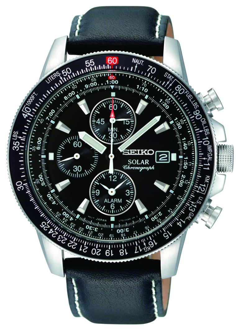 Seiko_Solar_Mens_Alarm_Chronograph_SSC009P3_original Most 35 Stylish Solar Powered Timepieces