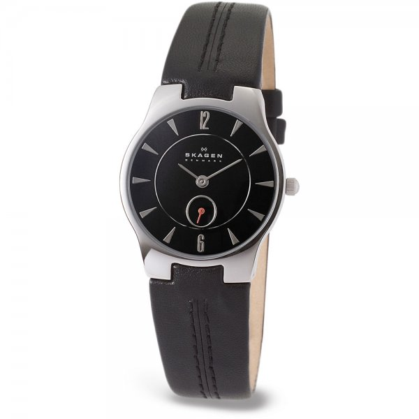 Skagen-Gents-Ultra-Slim-Black-Leather-Strap-Watch The World's 15 Thinnest Watches