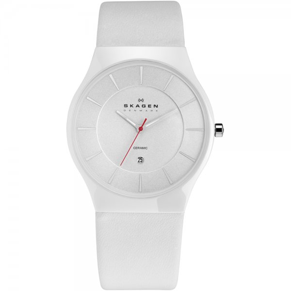 Skagen-Mens-White-Mesh-Strap-Watch The World's 15 Thinnest Watches