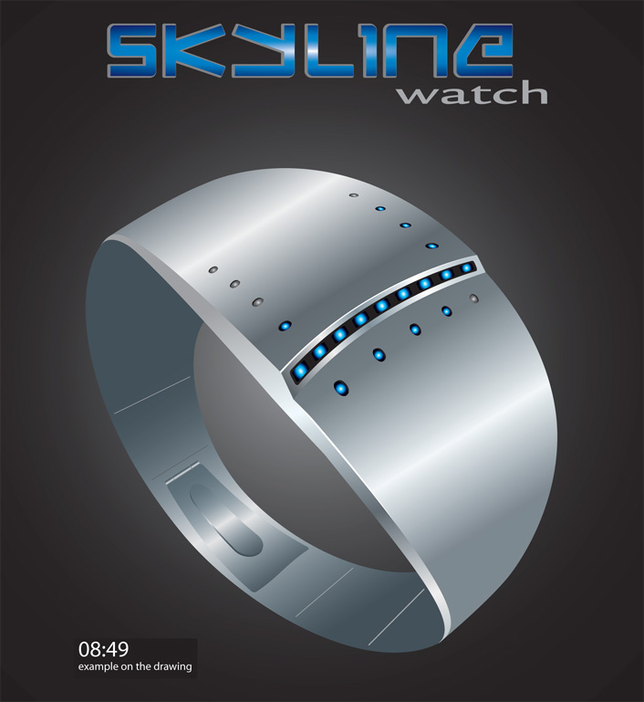SkylineWatch-Concept-LED-2 Top 35 Amazing Futuristic Watches