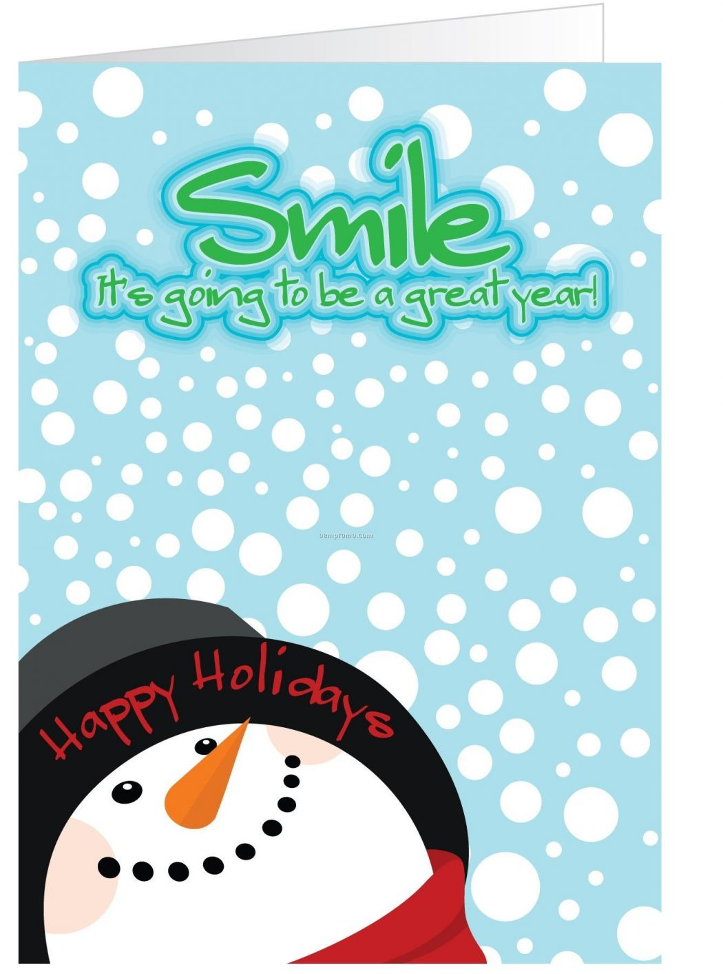 Snowman-Smile-Holiday-Greeting Wonderful greeting cards for happy holidays