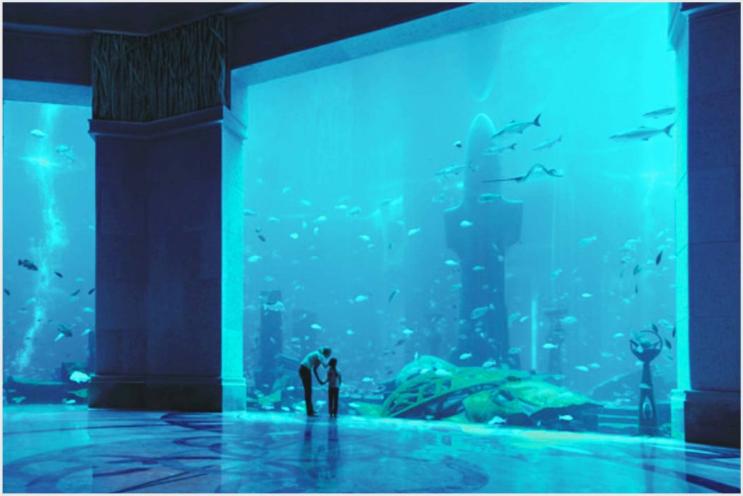 Why hotel atlantis dubai is my favorite between arab for Fish hotel tank