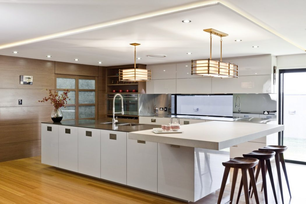 Rectangular kitchen designs home design and decor reviews for Modern kitchen plan