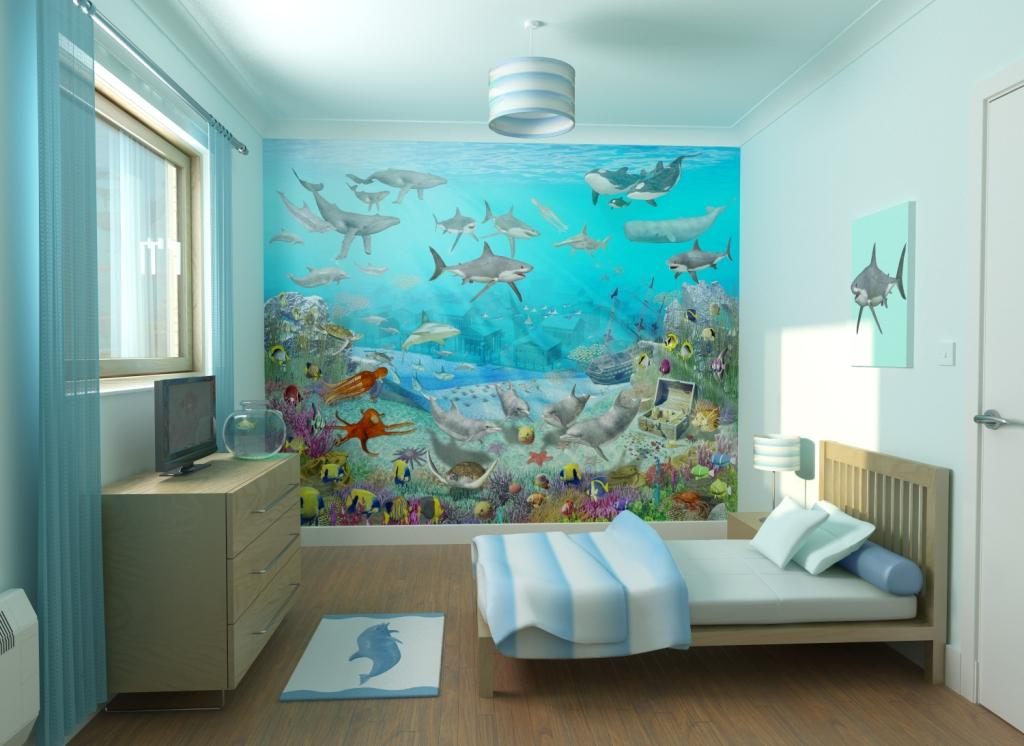 Theme-To-Create-A-Soothing-Fun-And-Friendly-Space-For-Your-Little 45 Stunning 3D Paintings for Decoration