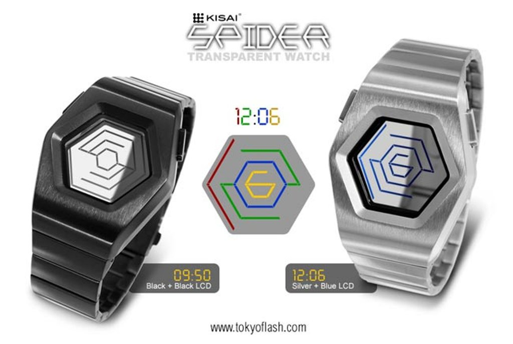 Tokyoflash-Kisai-Spider_4 The Most 10 Transparent Watches in The World