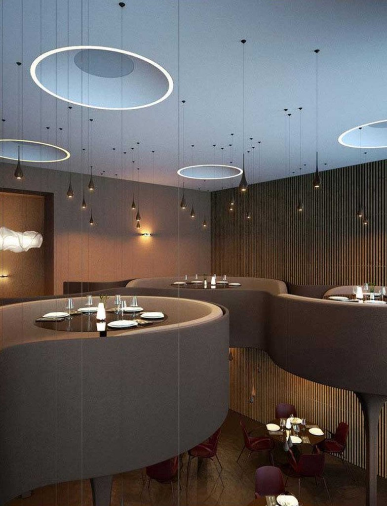 Two-storeyed-Dining-Section-in-Twister-Restaurant 15 Innovative Interior Designs for Restaurants