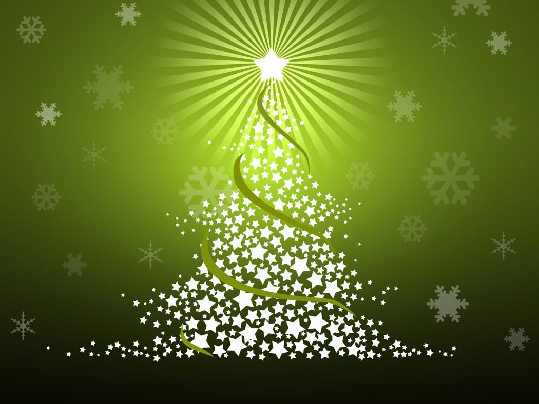 Vector_Green_Christmas_Tree Wonderful greeting cards for happy holidays