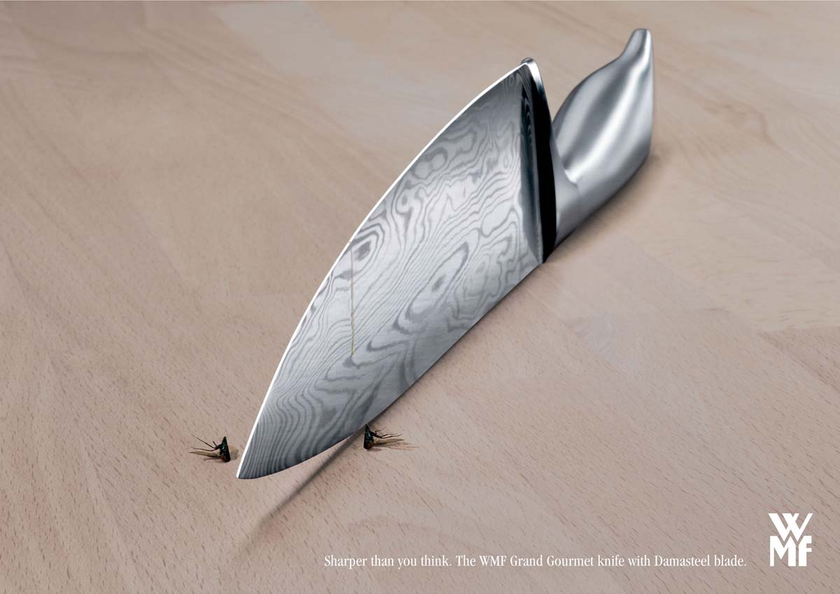 WMF-knives-Fly 23 Funniest Print Ads