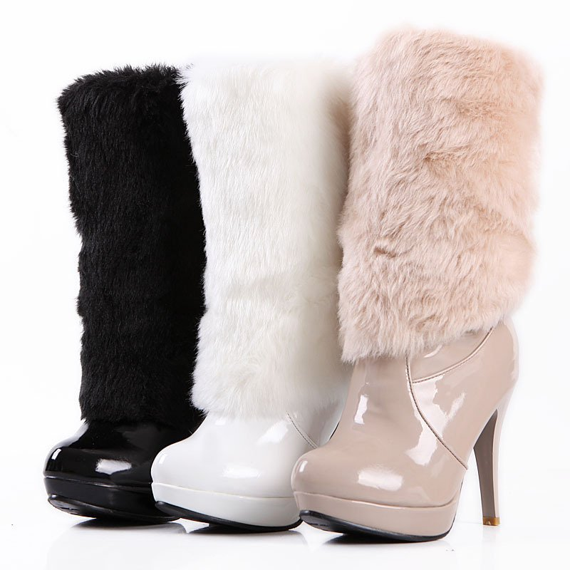 Winter-Ankle-Rabbit-hair-Boots Best 10 Ideas for Choosing Winter Gifts