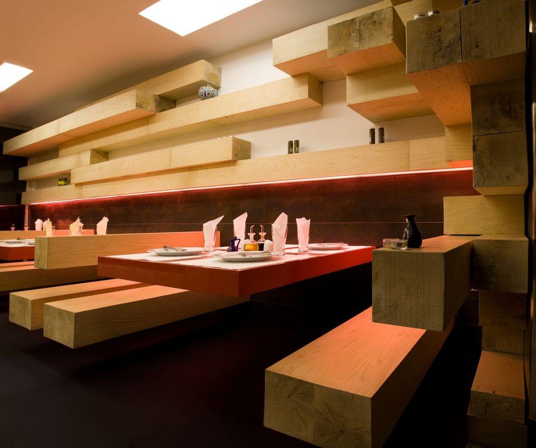 Wooden-Interior-Furniture-Ator-Restaurant-Interior-Design 15 Innovative Interior Designs for Restaurants