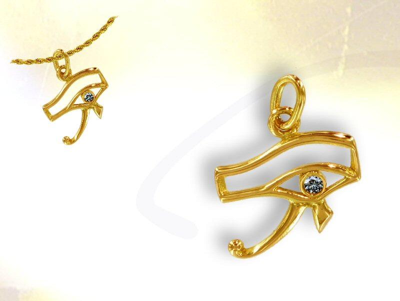 bijoux-oeil-horus-or-diamant-R Top 7 Stylish Pharaonic Jewelry Pieces