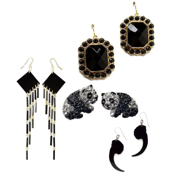 black earrings 1 2013 Top Jewelry Trends