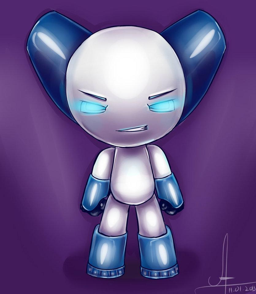 cartoon. Robot Boy Turned Fiction to Reality