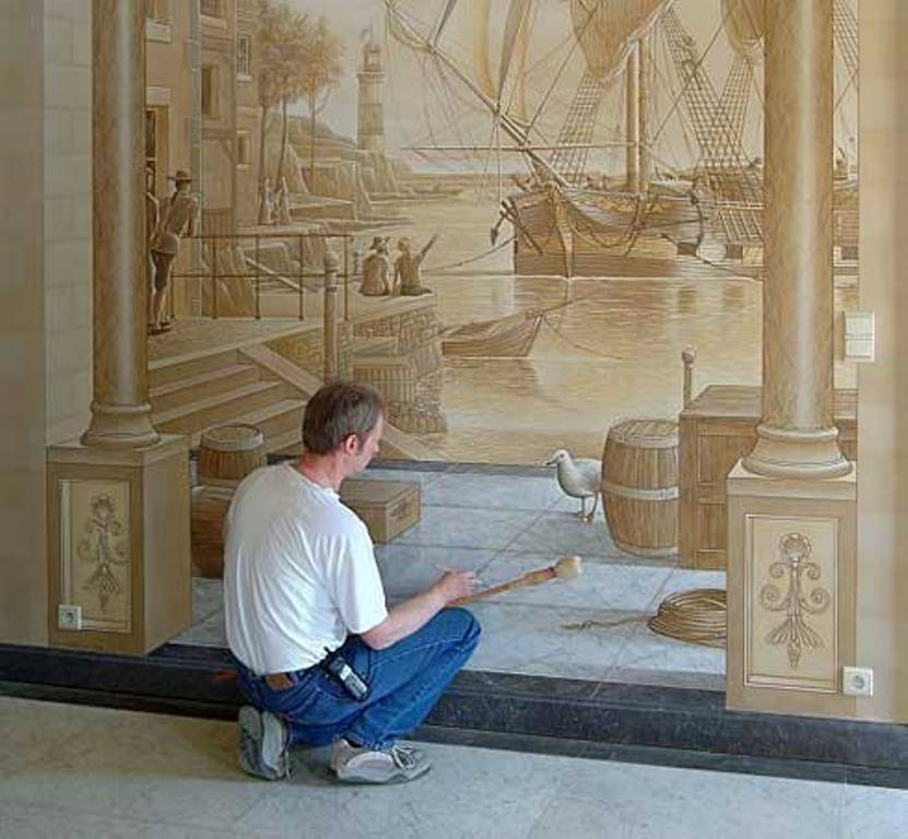 cool-wall-painting-Amazing-New-Take-on-House-Decoration-3D-Wall-Paintings 45 Stunning 3D Paintings for Decoration