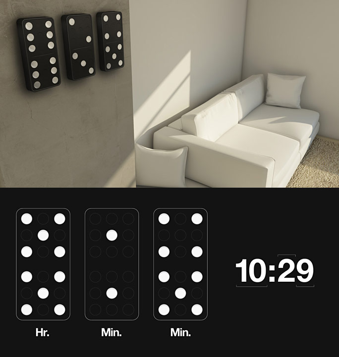 designer-clock-uses-domino-pictographics Best 25 Creative Clock Ideas
