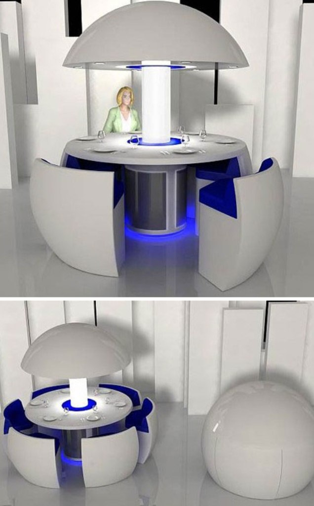 dinning-table 45 Marvelous Images for Futuristic Furniture
