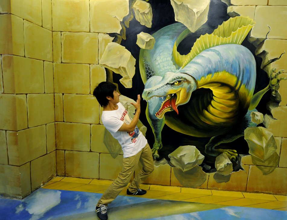 dinosaur 45 Stunning 3D Paintings for Decoration