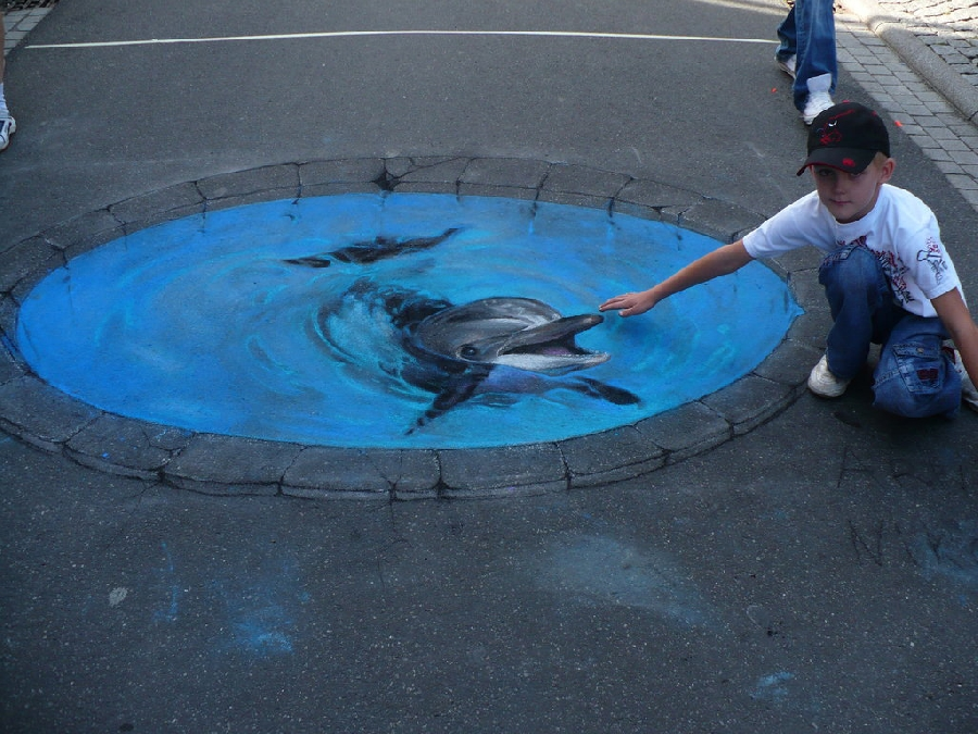 dolphin 45 Stunning 3D Paintings for Decoration
